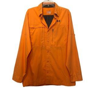 Under Armour Orange Lightweight Button Up Jacket M